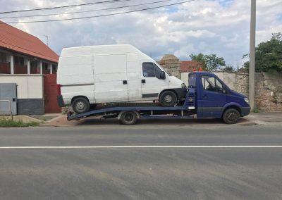 Odtah vozu Citroën Jumper